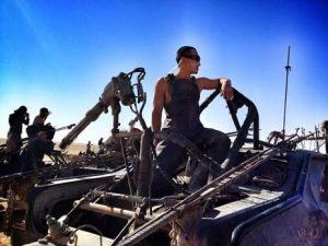Tim on the set of Fury Road